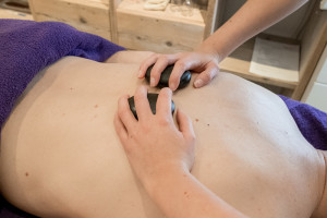 schoonheid, salon, hotstone, massage